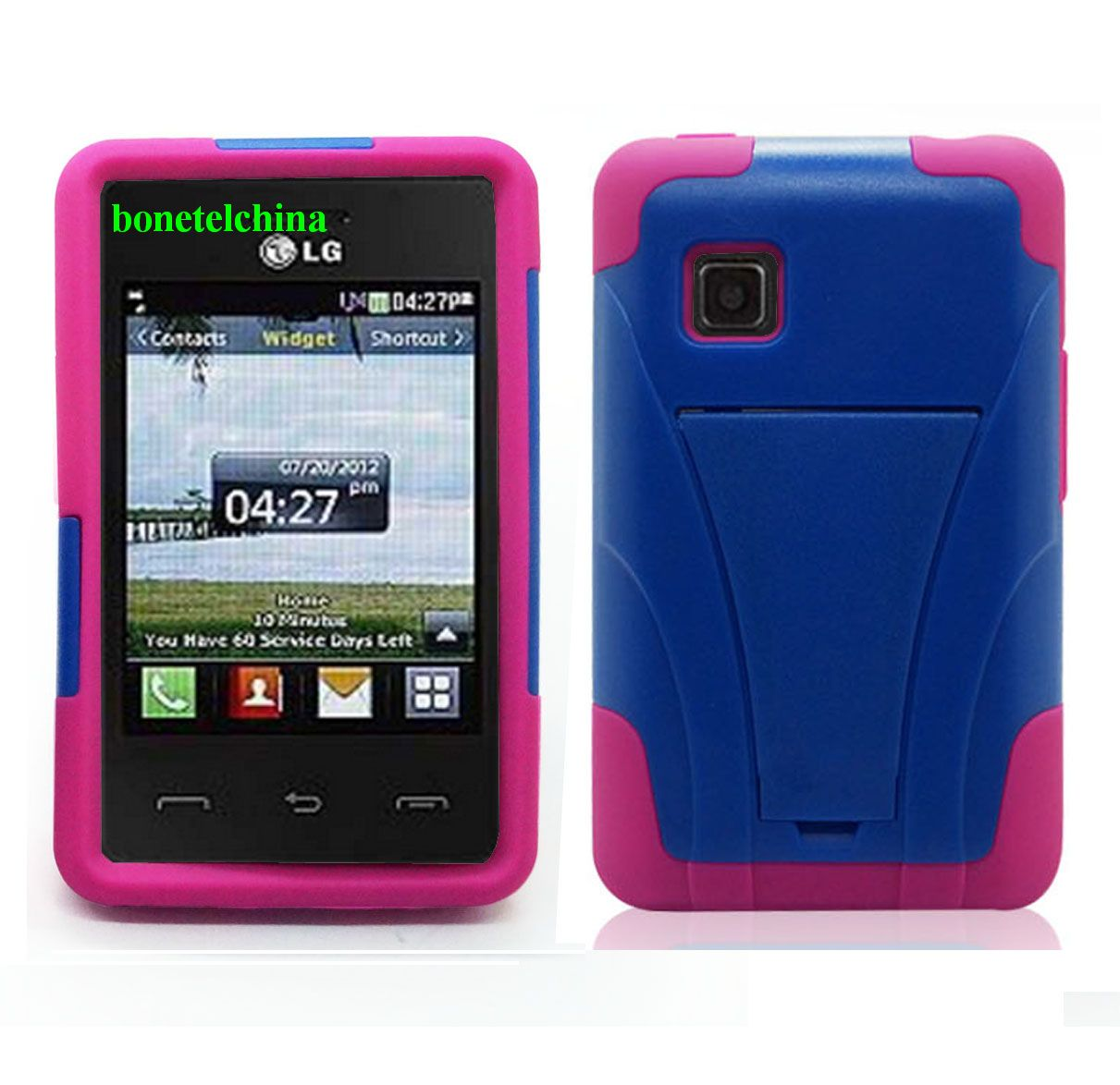 Hybrid combo cases cover for LG 840G Straight talk Net10 Tracfone