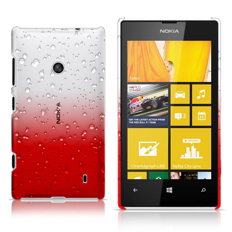3d rain drop design hard case cover for nokia lumia 520